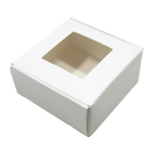 White Window Kraft Paper Box Multi-Size Candy Jewelry Wedding Gift Package Boxes