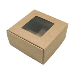 Brown Window Kraft Paper Box Multi-Size Candy Jewelry Wedding Gift Package Boxes