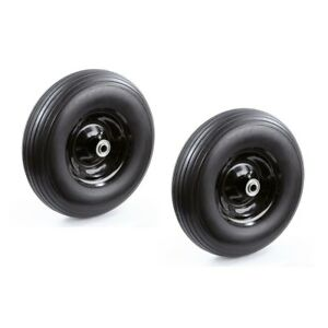 13 In No Flat Solid Wheelbarrow Utility Cart Replacement Wheel Tire (2-Pack) NEW