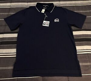 NWT Vintage 90s Polo Sport Ralph Lauren Tennis Navy Blue Polo Shirt - L Large