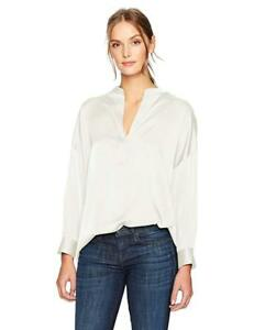 Vince Women's Shirred Drape Silk Pullover Blouse IvoryNWT SIZE: S  $295
