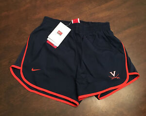 NWT Virginia UVA Cavaliers Women's Rowing Team Issued Nike Fit Dry Shorts XS