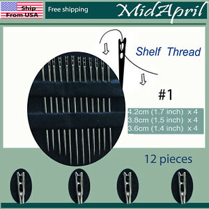 Hand Sewing Needles set Self Threading Tools Craft Quilting 12 counts US $2.99
