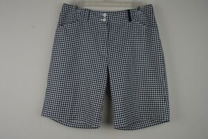 Nike Golf Fit Dry Womens 6 Black White Shorts Houndstooth W 30 x I 8 34