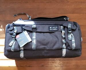 Under Armour Project Rock BlackCamo UA Contain Duo+ Backpack Duffel Gym Bag NWT