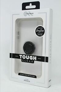 Case-Mate Tough Clear Case and Black Solid Ring Bundle for iPhone XR 6.1