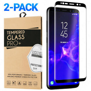 2-Pack Tempered Glass Samsung Galaxy S8 S9 Plus Note 8 9 Full Screen Protector