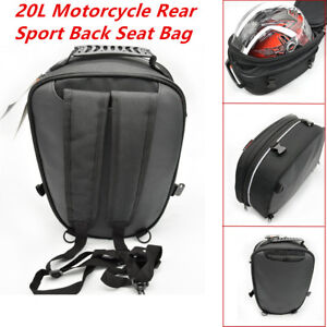 20L Durable Motorcycle Rear Sport Back Seat Bag Car Tail Bag Scooter Helmet Pack