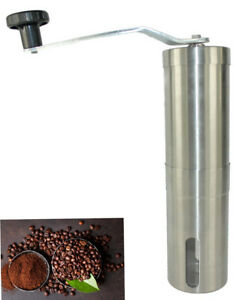 Portable Manual Coffee Grinder burr Hand Crank Stainless Coffee Pepper Mill