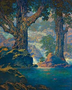 Maxfield Parrish Cascades Giclee Art Paper Print Paintings Poster Reproduction