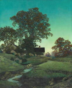 Maxfield Parrish Evening Giclee Art Paper Print Paintings Poster Reproduction