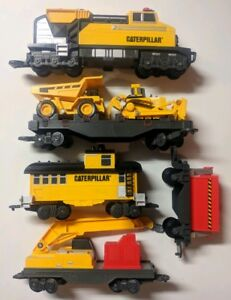 Caterpillar CAT Motorized Construction Express Train Deluxe Set Complete Working