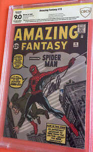 Amazing Fantasy #15 CBCS 9.0 HIGH GRADE SS STAN LEE SIGNED AF15 COMIC BOOK