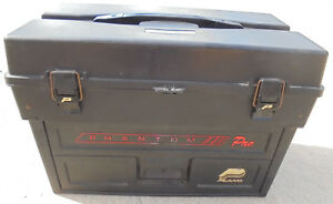 Plano Phantom Pro tackle box: black with red name about 21