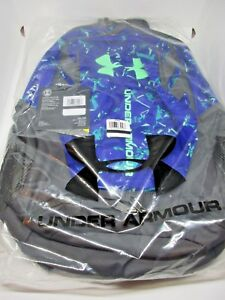 Under Armour Hustle 3.0 Backpack Gym Hiking Blue Green Back to School New Tags