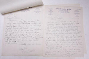 1934 Lamson Goodnow Chas R Coates and Sons Baltimore MD Letter Ephemera P717K