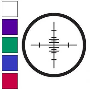 Crosshairs Target Decal Sticker Choose Color Size #182