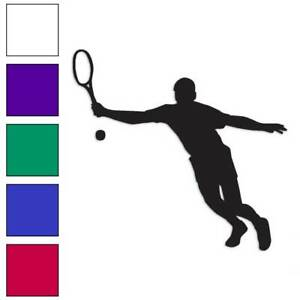 Tennis Racket Exercise Sport Decal Sticker Choose Color Size #1402