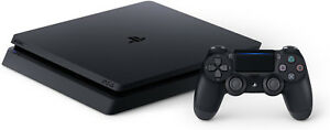 Sony PlayStation 4 (PS4) Slim 1tb Jet Black Console w accessories!