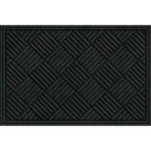 Apache Mills Textures Crosshatch Entrance Mat 2-Feet by 3-Feet Charcoal