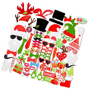 JOYIN Toy 66 Pieces Christmas Photo Booth Props for Event Party Favours and Deco