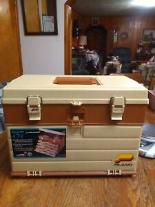 Vintage Plano Tackle Box Full Of 100+ Lures  Fishing Gear Estate Find