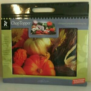 GOURMET TRADITIONS CUTTING BOARD / SERVING TRAY - Fall design - 11.5