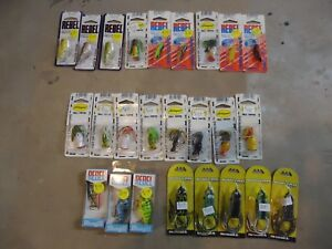 bass fishing lures lot Arbogast Hula Popper Rebel Booyah Frogs