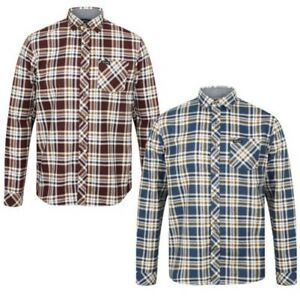 Tokyo Laundry Mens Kingsbridge Check Long Sleeve Button Up Casual Flannel Shirt