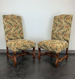 French Country Style Dining Side Chairs by Fremarc Designs - Pair 3