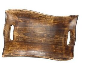 Curved Walnut Wood Serving Tray Chers