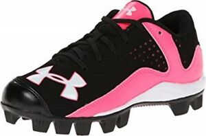 Under Armour Leadoff Low RM Jr Kids Youth Pink Black UA Baseball Cleats Size 4
