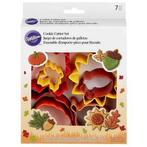 Wilton Metal Cookie Cutter Set 7pcs-Autumn