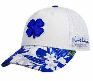 New 2018 Black Clover Tropical Luck #3 Adjustable Snapback Royal Blue HatCap