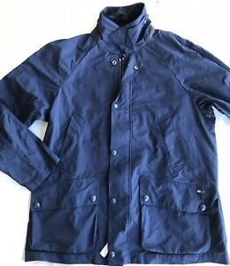 Polo Ralph Lauren Rain Field Jacket Leather Corduroy Collar Large