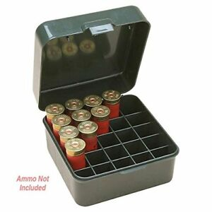 25 Round Shot Shell Box 12 16 20 Gauge Rifle Ammo Case Cover Store Bullet Slots