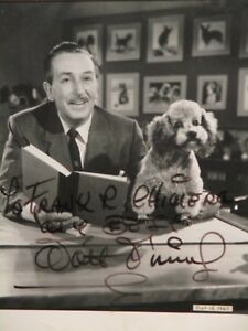 RARE Crown jewel of a Disney Collection Signed Autograph Photo Walt Disney
