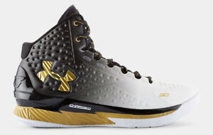 Under Armour UA Curry 1 MVP One Championship SC30 Black White Metallic Gold 13