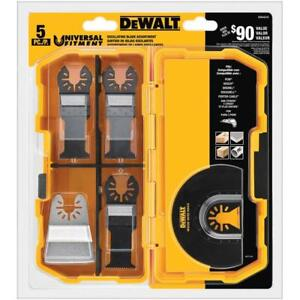 DEWALT 5-Piece OSCILLATING BLADE ASSORTMENT Fast Cut Wood Flush Rigid Scraper HQ