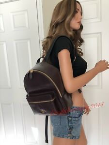NWT COACH PATENT LEATHER MEDIUM OXBLOOD BURGUNDY SHOULDER BAG BACKPACK