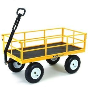 Gorilla Carts Heavy Duty Steel Utility Cart Easily Move 1200 lbs 13 in. Tires