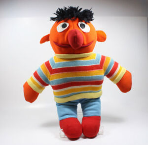 VINTAGE Sesame Street ERNIE DOLL Muppets Plush Stuffed UNIQUE HANDMADE 13quot; Tall