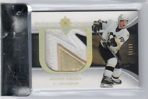 200506 UD ULTIMATE PREMIUM GAME USED PATCHES ROOKIES SIDNEY CROSBY 1035 BGS 9