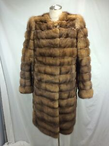 TOP DESIGN REAL RUSSIAN FARMED SABLE LONG JACKET - SEXY FASHIONABLE EXPENSIVE