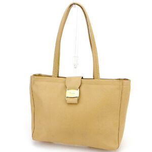Salvatore Ferragamo Tote bag Vera Beige Gold Woman Authentic Used T2015