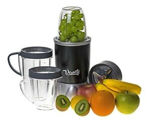 Durable Grey Magic Bullet Shaped Small Blender 12 Piece Set 600 W Home Kitchen