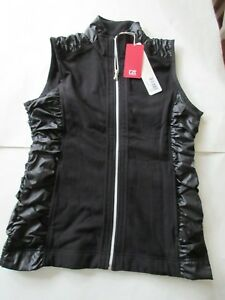 WOMENS CUTTER AND BUCK VEST SMALL NWT BLACK