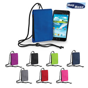 BagBase Phone Neck Cord Pouch BG49 Zippered Protected Cover Case GBP 5.99