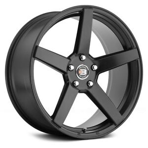 Big Bang BB22 Wheels 17x7 (40 4x100 72.56) Black Rims Set of 4