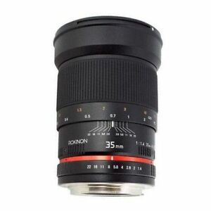 Rokinon 35mm F1.4 AS UMC Wide Angle Lens for Pentax RK35M-P